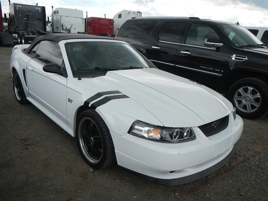 1999 FORD MUSTANG GT CONVERTIBLE CAR, 95k + mi,  V8 GAS, AUTOMATIC, PS, AC