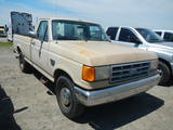 1992 FORD F250 PICKUP TRUCK,  DIESEL, 5 SPEED, PS, S# 72258