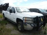 2009 CHEVROLET 2500 HD PICKUP TRUCK, 330K + mi,  4X4, CREW CAB, V8 GAS, AUT
