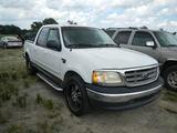 2003 FORD F150 PICKUP TRUCK,  QUAD CAB,V8 GAS, AUTO, PS, AC, S# 89280