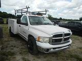 2004 DODGE RAM 3500 SERVICE TRUCK, 489,156 MILES  CUMMINS DIESEL, 6 SPEED,