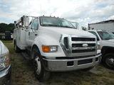 2007 FORD F750 MECHANICS TRUCK, 399,233 MI.,  3126 CAT DIESEL, AUTOMATIC, P