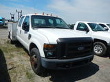 2008 FORD F350 TRUCK,  CREW CAB, V10 GAS, AUTOMATIC, PS, AC, KNAPHEIDE BED