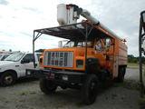 1998 GMC C7500 BUCKET TRUCK,  4X4, V8 GAS, 5 SPEED, ALTEC BUCKET LIFT, CHIP