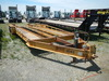 1998 BELSHE PAN TRAILER,  PINTLE HITCH, 20', 4' DOVETAIL W/ RAMPS, TANDEM A