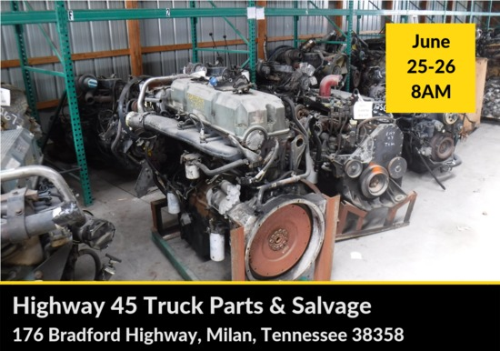 Highway 45 Two Day Truck Parts and Salvage Auction