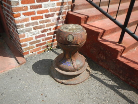 MOORING BOLLARD  LOCATED OUTSIDE BY RAMP