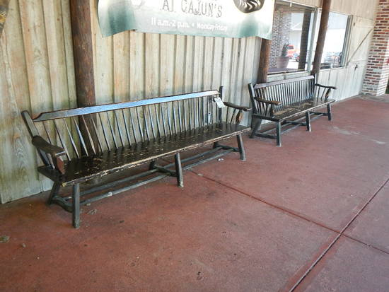 (2) WOODEN BENCHES