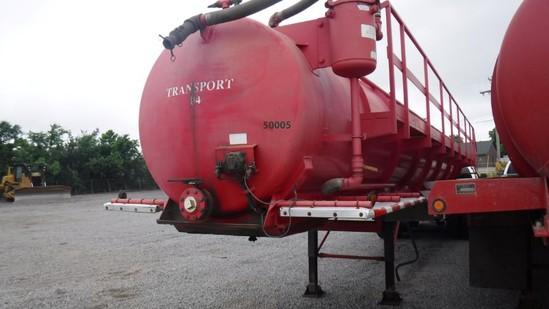 2013 Troxell 140BBL Vacuum Tanker Trailer  TRI-AXLE, Air Ride, Air Lift 3rd