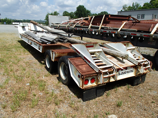 1992 LOAD KING CS50/60-2 LOWBOY TRAILER,  25-30 TON, TANDEM AXLE, DOVETAIL,
