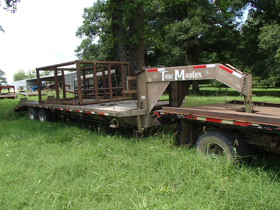 2007 TOW MASTER GOOSENECK TRAILER,  APPROX 28', TANDEM AXLE, DUAL WHEELS, D