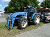 NEW HOLLAND 8340 LOADER TRACTOR, 6,937 hrs,  CAB, AC, MFWD, 255 WOODS DUAL