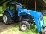 NEW HOLLAND 8260 LOADER TRACTOR, 2,509 hrs,  CAB. AC. 2WD, 7312 LOADER WITH