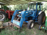 FORD 5610 LOADER TRACTOR, 3,195 hrs,  CAB, AC, 2WD, FORD 7210 LOADER WITH F