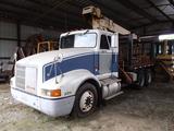 1992 INTERNATIONAL 4900 CRANE TRUCK, 847K + mi,  50K GVWR, 38K REARS, TWIN