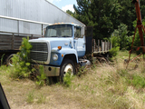 1985 FORD 8000 FLATBED DUMP TRUCK,  FORD DIESEL, 5 SPEED, 14' BED, SINGLE A
