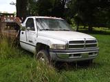 1997 DODGE RAM 3500 FLATBED PICKUP TRUCK, 78,999 MILES ON METER  4X4, CUMMI