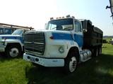 1987 FORD L9000 DUMP TRUCK, 175,692 MILES ON METER  CUMMINS DIESEL, 10 SPEE