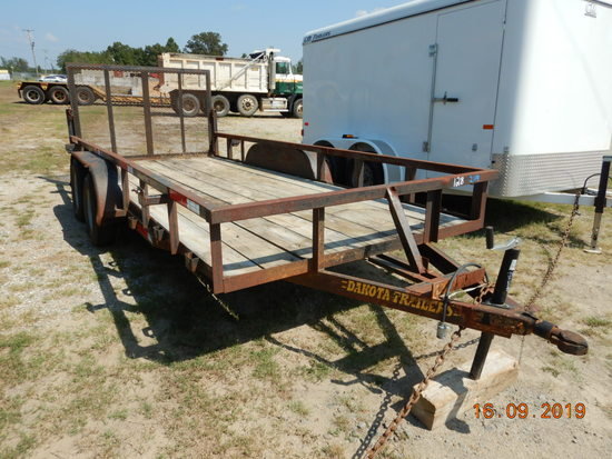 DAKOTA 16' UTILITY TRAILER,  TANDEM AXLE, SINGLE TIRE, SPRING SUSPENSION S#