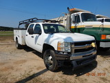 2009 CHEVROLET 3500 SERVICE TRUCK, 172,000+ mi,  CREW CAB, V8 GAS, AUTOMATI