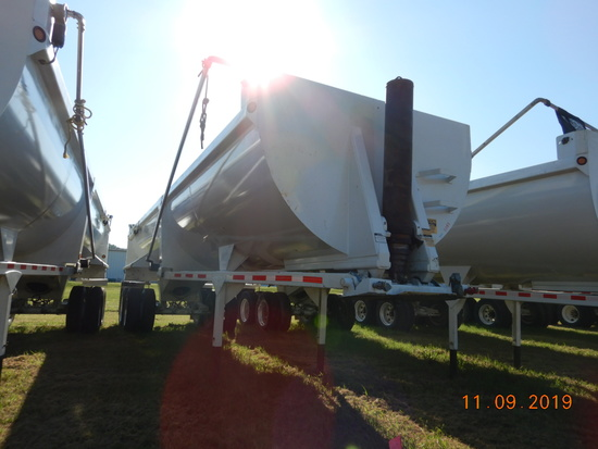 2016 CTS HRD32 END DUMP TRAILER,  32', TANDEM AXLE ON CENTER POINT SPRING S