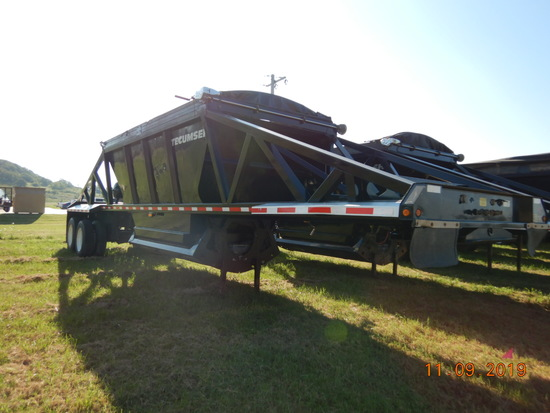 2015 TECUMSEH BELLY DUMP TRAILER,  TANDEM AXLE, AIR RIDE, 83K GVWR S# 18300