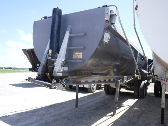 2008 CTS HRD28 QF END DUMP TRAILER,  28', STEEL, ROCK MASTER, HALF ROUND, C