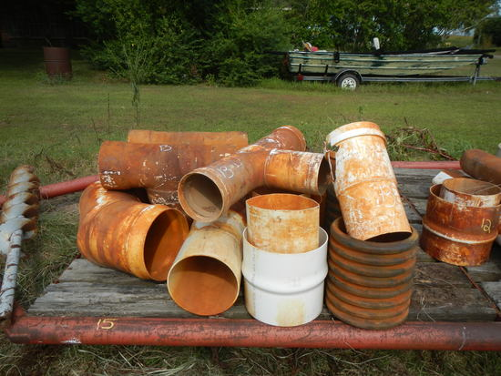 LOT OF PVC PIPE FITTINGS