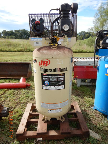 INGERSOLL RAND UPRIGHT AIR COMPRESSOR,  ELECTRIC