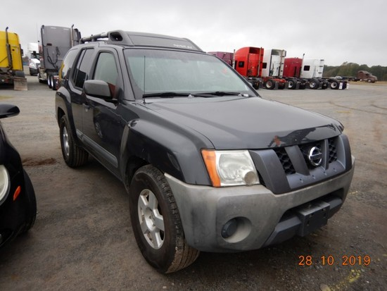 2006 NISSAN XTERRA SUV, 125,335 miles  V6 GAS, AT, PS, AC, S# 57261