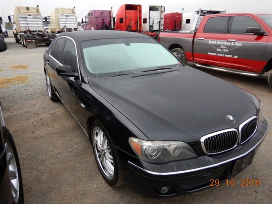 2007 BMW 750 I CAR, 139,000+ mi,  4-DOOR, V8 GAS, AUTOMATIC, PS, AC S# 0841