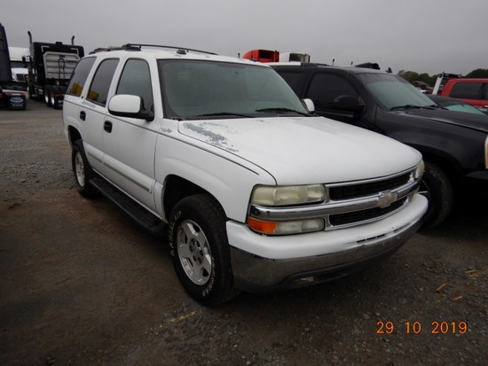 2004 CHEVROLET TAHOE SUV, 177,368+ mi,  4-DOOR, V8 GAS, AUTOMATIC, PS, AC S
