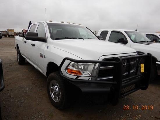 2012 DODGE RAM 3500HD TRUCK, 256,544+ mi,  CREW CAB, 4 X 4, CUMMINS DIESEL,