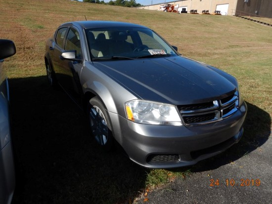 2012 DODGE AVENGER SEDAN, 77,201+ MILES  3.6L GAS ENGINE, AT, PS, AC, CRUIS
