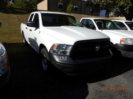 2013 DODGE RAM 1500 PICKUP TRUCK, 143k + mi,  QUAD CAB, SHORT BED, V8 GAS,
