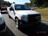 2013 FORD F150XL PICKUP TRUCK, 116k + mi.  V8 GAS, AUTOMATIC, PS, AC S# 1FT
