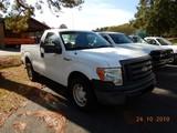 2010 FORD F150XL PICKUP TRUCK, 71K + mi,  V8 GAS, AUTOMATIC, PS, AC, S# 1FT