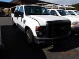 2009 FORD F250 PICKUP TRUCK, 214,371 mi,  CREW CAB, LONG BED, V8 GAS, AUTOM
