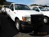 2011 FORD F150XL PICKUP TRUCK, 198k + mi,  V8 GAS, AUTOMATIC, PS, AC S# 1FT