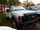 2008 FORD F450 PICKUP TRUCK,  V8 GAS, AUTOMATIC, WITH SERVICE BODY S# 1FDXF