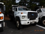 1993 FORD F700 DUMP TRUCK, 10,582 hrs  CUMMINS DIESEL, 5+2 SPEED, 9' BED, S