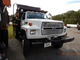 1992 FORD FT900 DUMP TRUCK, 349,796 miles  FORD DIESEL,. 8LL TRANSMISSION,