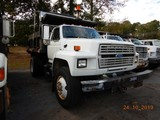 1990 FORD F800 DUMP TRUCK, 236,245 miles  FORD DIESEL, 5+2 SPEED, 9' BED, S