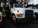 1997 FORD FT900 DUMP TRUCK, 267,468 miles  FORD DIESEL, AUTOMATIC TRANS. PS