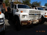 1993 FORD F700 DUMP TRUCK, 185,645 miles  FORD DIESEL, 5+2 SPEED, 9' BED, 2