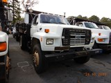 1990 FORD F800 DUMP TRUCK, 140,705 miles  FORD DIESEL, 5+2 SPEED, 9' BED, S