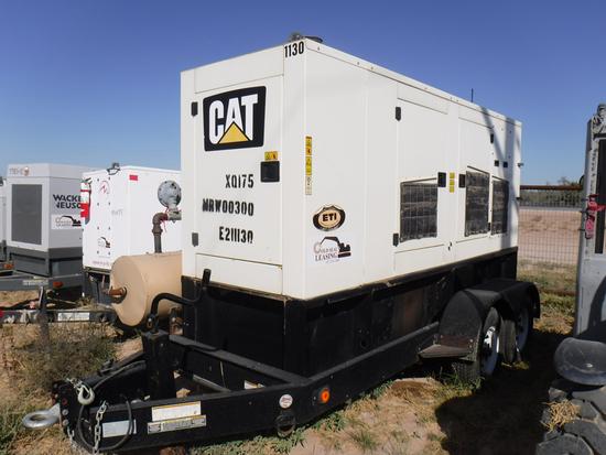 2011 CATERPILLAR XQ175-2 GENERATOR, 11,668+ hrs,  175-KW, CAT LC5 GENERATOR