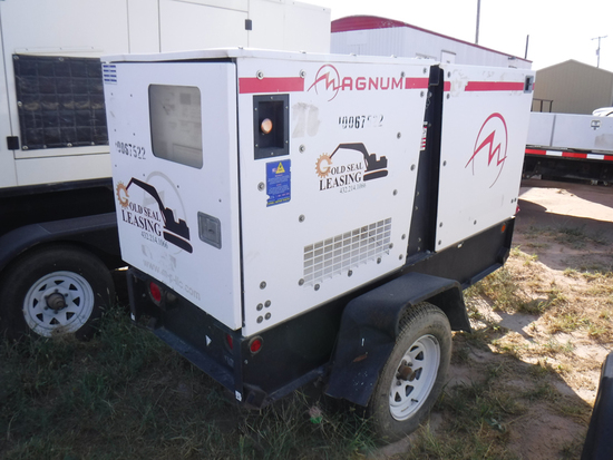 2011 MAGNUM MMG25FHI GENERATOR, n/a hrs,  15-KW, DIESEL, SINGLE PHASE & 3-P