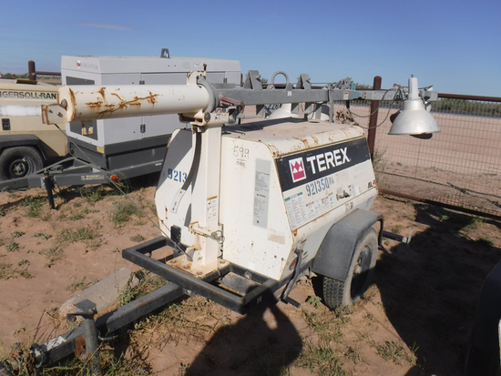 2012 TEREX AL4 PORTABLE LIGHT PLANT GENERATOR, 8,906+ hrs,  MARATHON 6-KW G