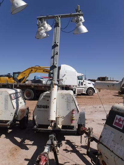 2012 TEREX AL4 PORTABLE LIGHT PLANT GENERATOR, 11,242+ hrs,  MARATHON 6-KW